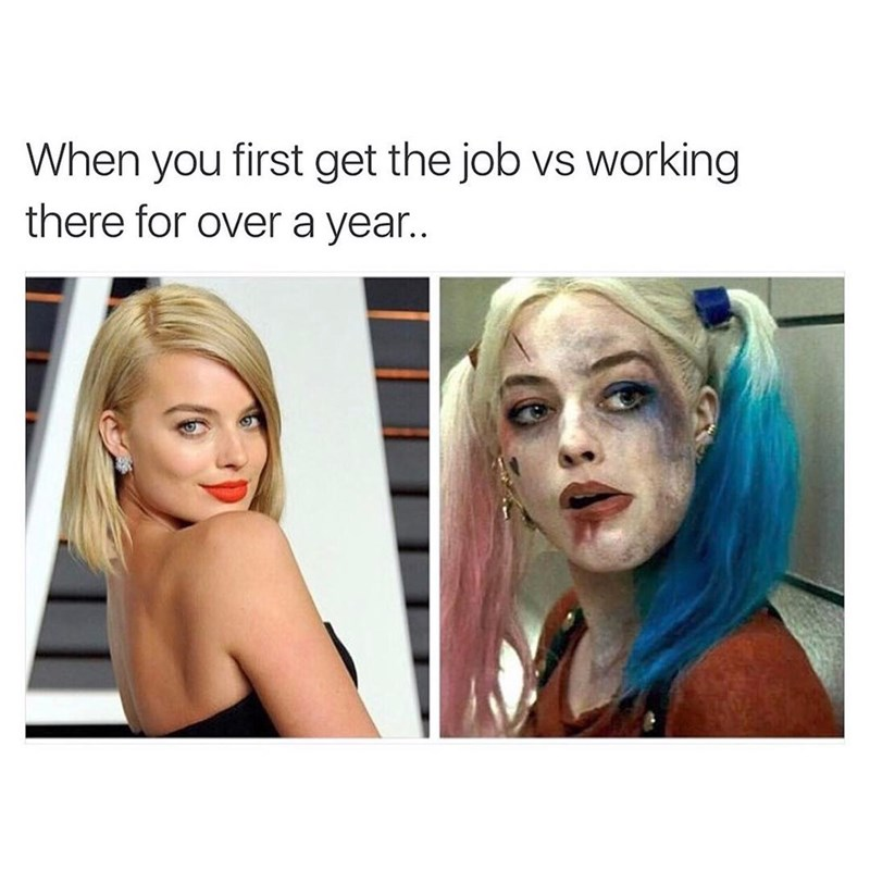 Hair - When you first get the job vs working there for over a yea..