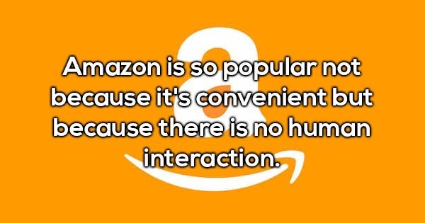 Shower thought about what makes people use Amazon