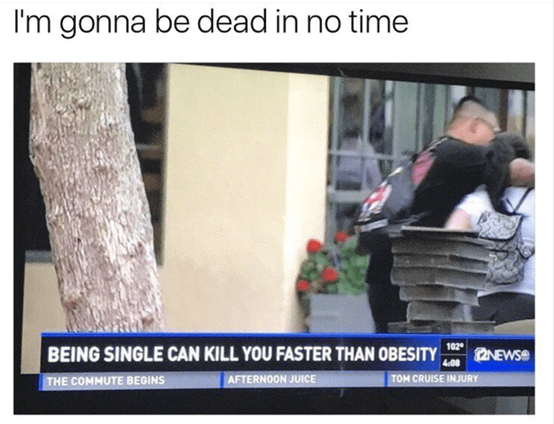 Adaptation - I'm gonna be dead in no time 102 BEING SINGLE CAN KILL YOU FASTER THAN OBESITY NEWS 408 TOM CRUISE INJURY AFTERNOON JUICE THE COMMUTE BEGINS