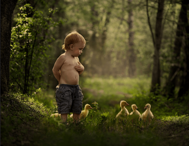 People in nature