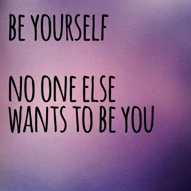 Font - BE YOURSELF NO ONE ELSE WANTS TO BE YOU