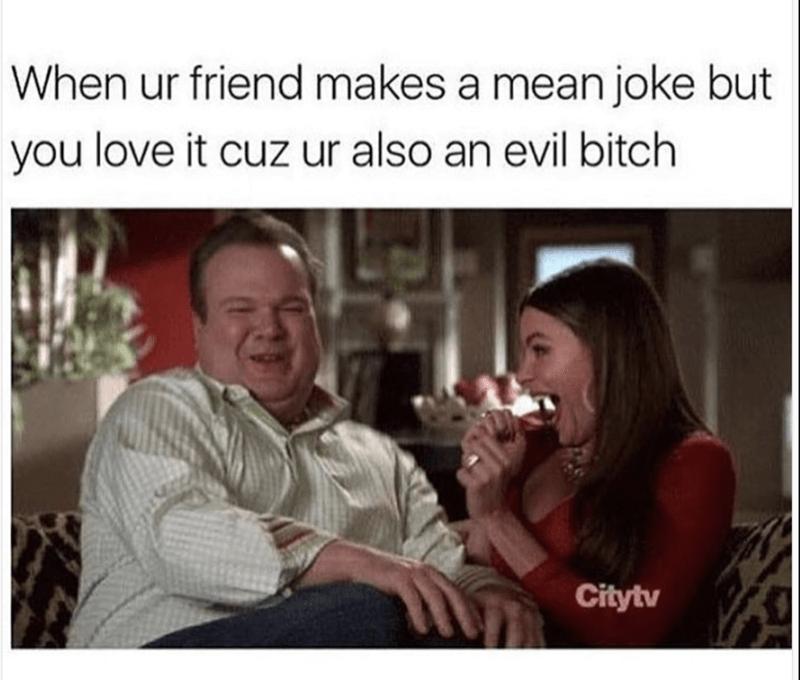 Modern Family meme about liking mean jokes