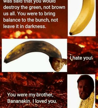 Star Wars banana meme