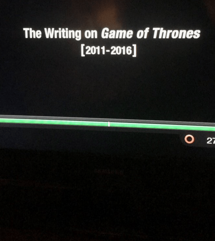 Green - The Writing on Game of Thrones [2011-2016] O 27