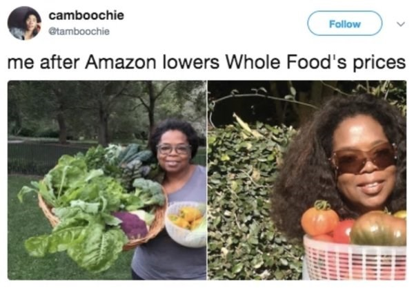Natural foods - camboochie Follow etamboochie me after Amazon lowers Whole Food's prices