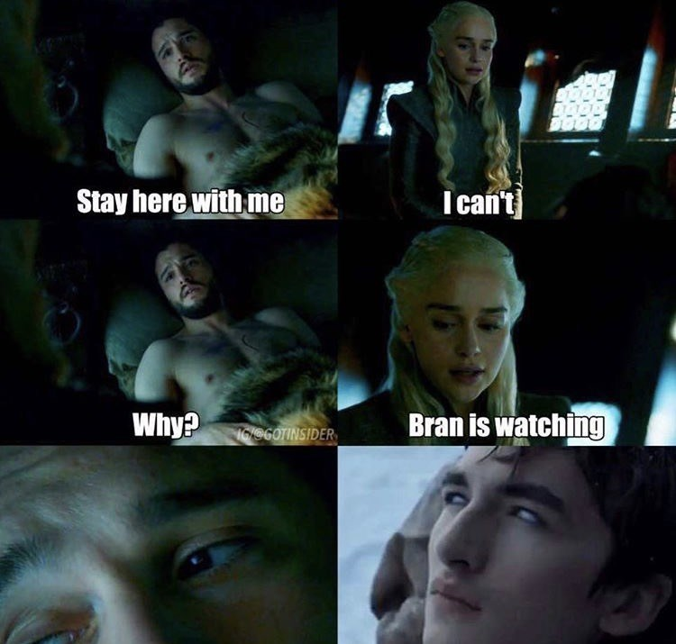 Face - Stay here with me I can't Bran is watching Why? 16/060TINSIDER
