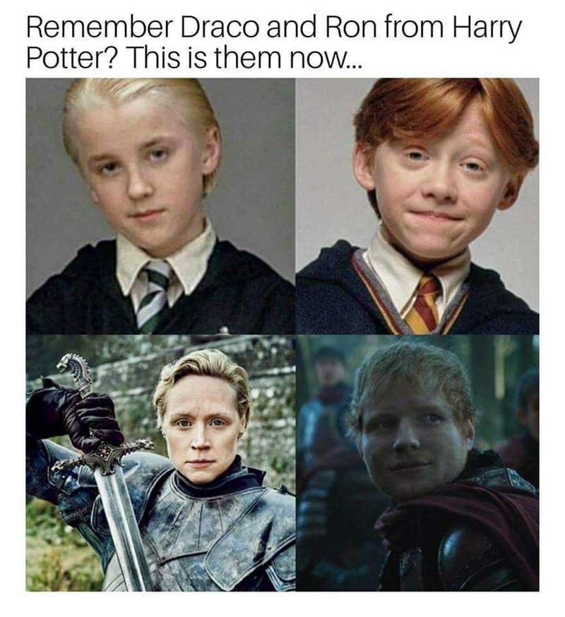 People - Remember Draco and Ron from Harry Potter? This is them now...