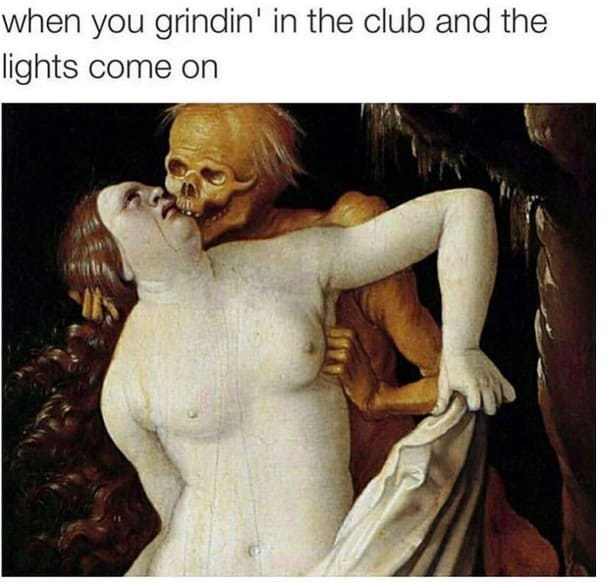 Text - Human - when you grindin' in the club and the lights come on