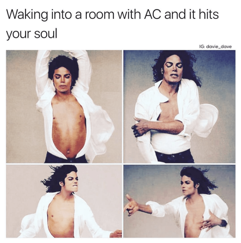 meme - Hair - Waking into a room with AC and it hits your soul IG: davie_dave
