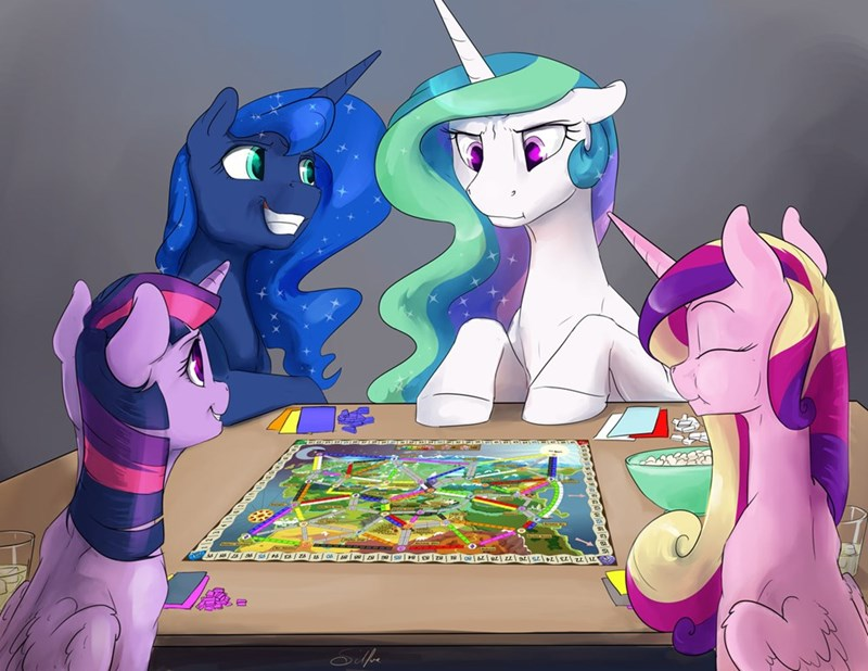 princess celestia princess luna ponify twilight sparkle ticket to ride princess cadence silfoe - 9070820096