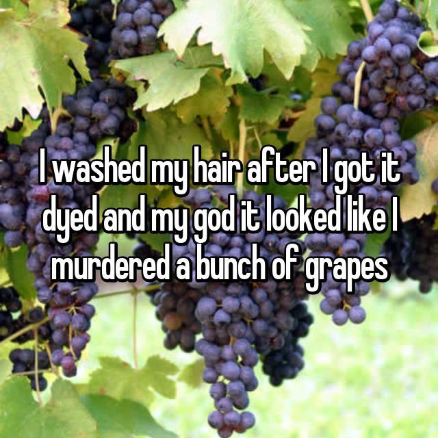Grape - dwashed my hair after lgotit dyedand my god it lodked ike murdered a bunch of grapes
