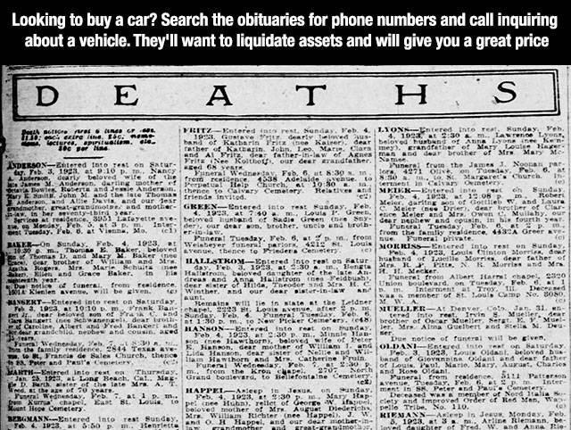 newspaper deaths