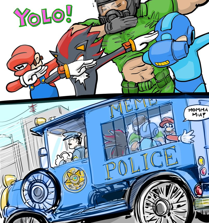 meme police the dab dance dabbing web comics yolo - 9071449344