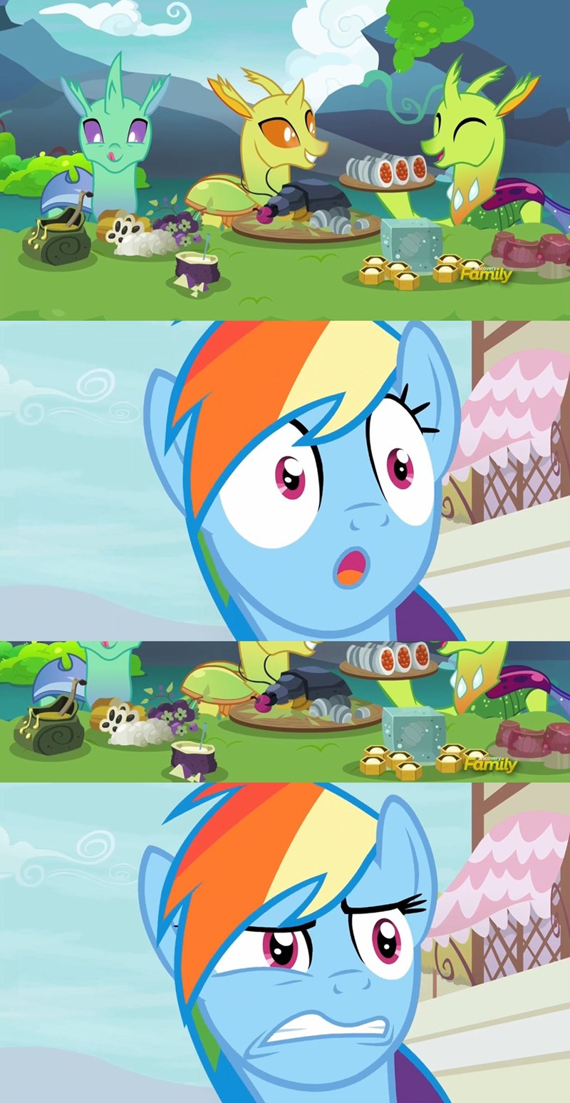 changelings screencap rainbow dash to change a changeling daring done - 9071473152