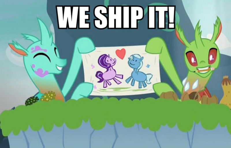 shipping the great and powerful trixie to change a changeling starlight glimmer changelings - 9071491584