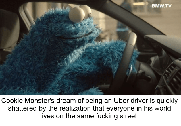 Cookie Monster uber Sesame Street - 9071759360