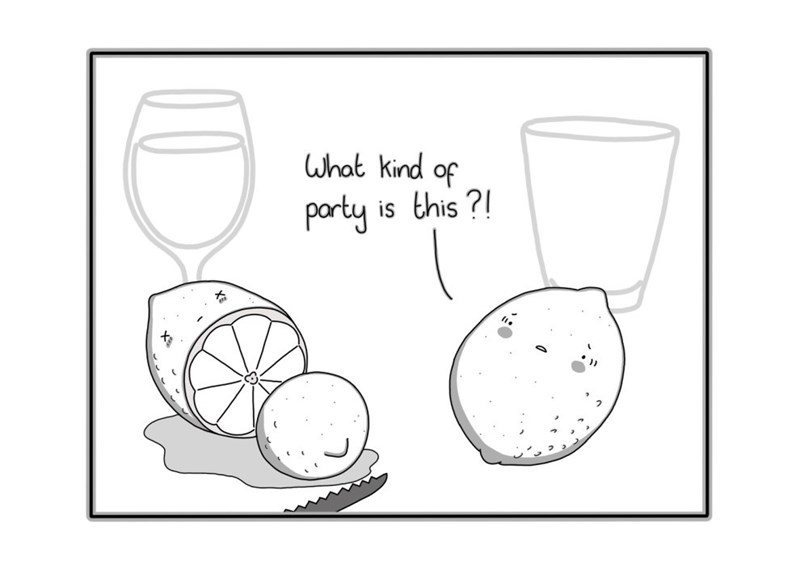 Lemon cutting party webcomic
