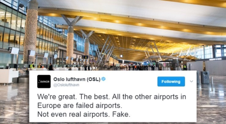 Tweet by airport that is clearly the best.