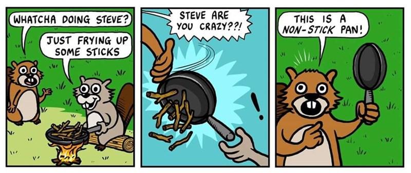 Webcomic about non stick pans
