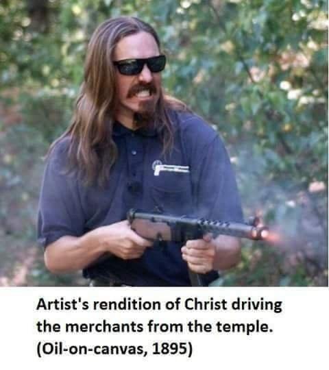 Funny meme about Jesus Christ.
