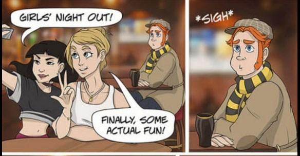 Cartoon - GIRLS NIGHT OUT! SIGH* FINALLY SOME ACTUAL FUN!