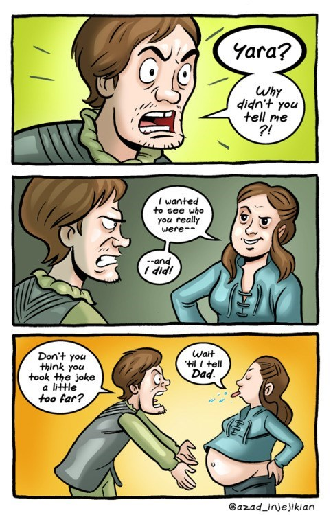 Game of Thrones webcomic of alternative narrative of Theon and Yara.