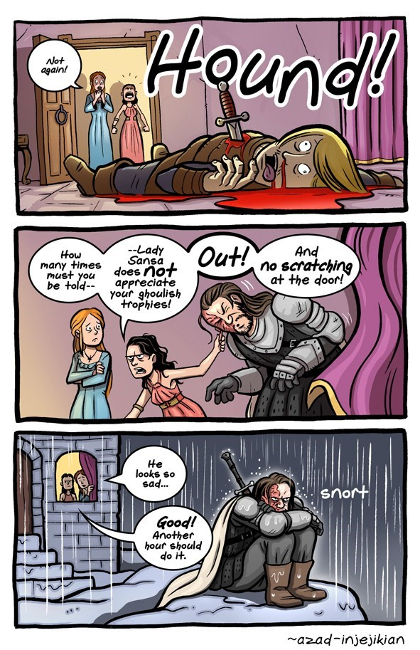 Hound in the webcomic of Game of Thrones