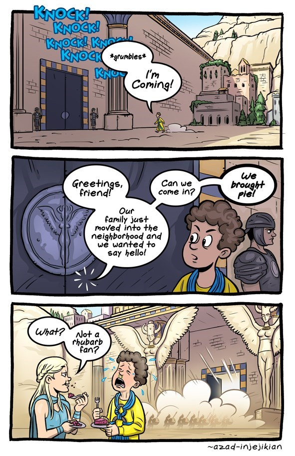 Tasty pie in Game of Thrones webcomic