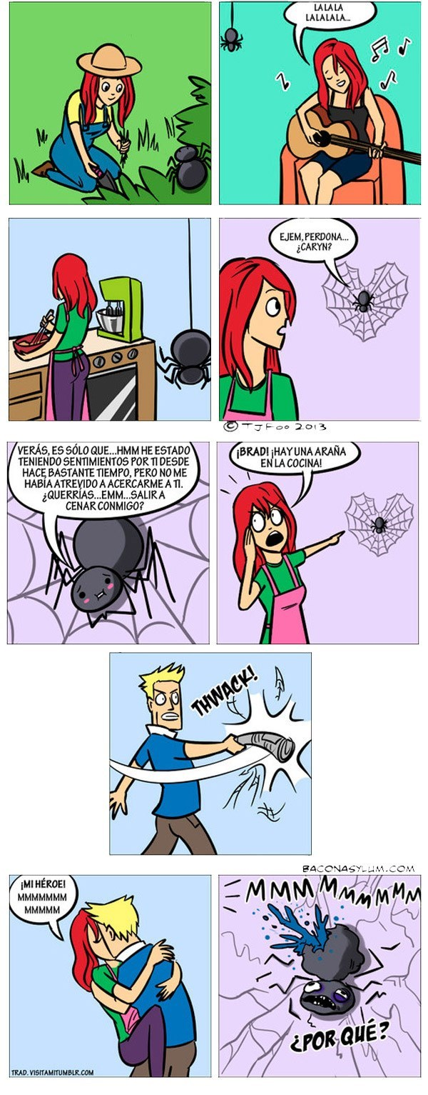 comic historia de una arana enamorada
