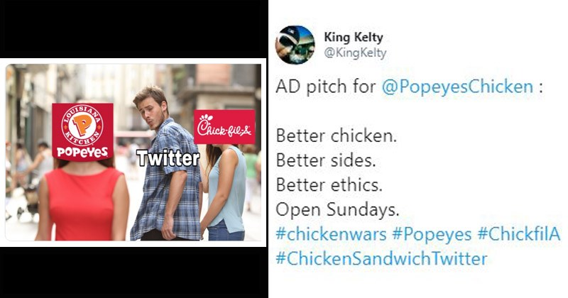 Funny tweets about the 'chicken wars' between Popeyes and Chick-fil-A