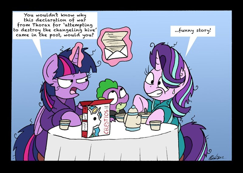 spike thorax to change a changeling bob the dalek starlight glimmer twilight sparkle changelings - 9072648704