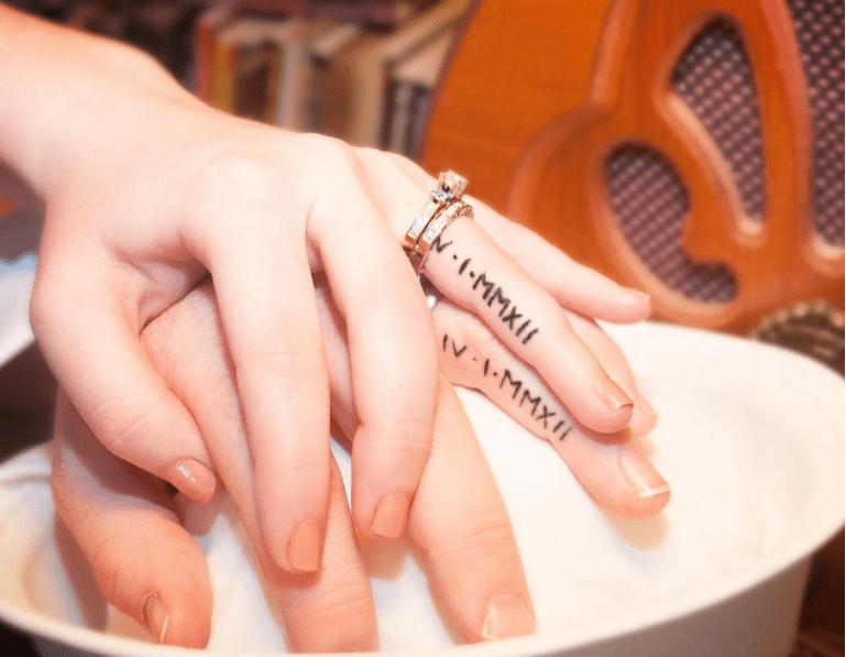 couples tattoos - Nail - V 1-MMX#