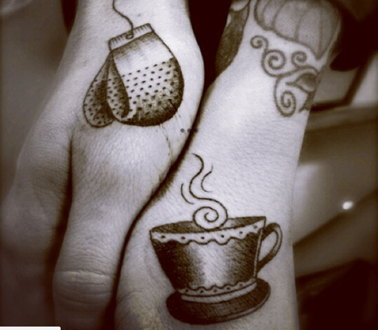 couples tattoos - Cup