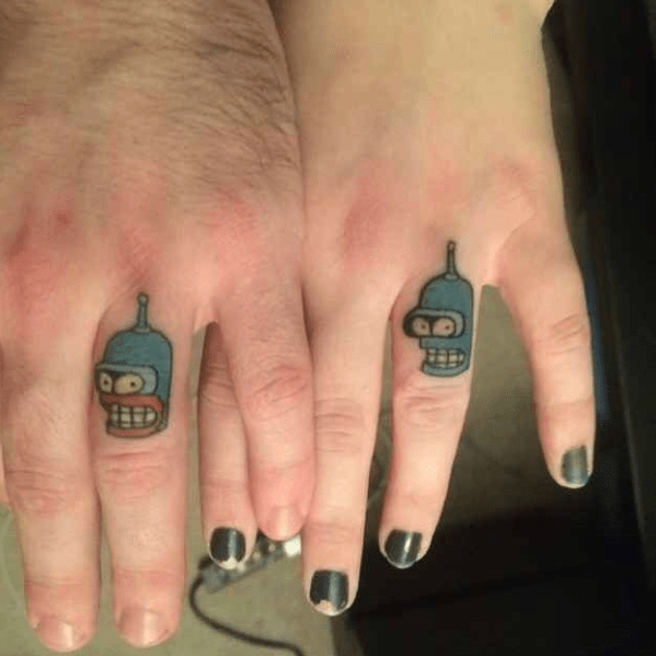 couples tattoos - Nail