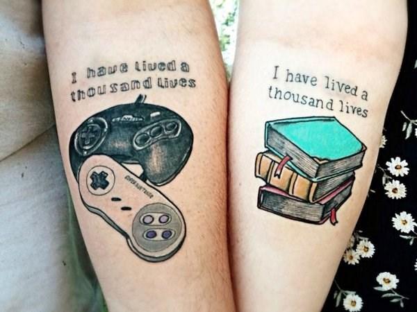 couples tattoos - Tattoo - I have lived a haue liued a thousand ives thousand lives OPERT