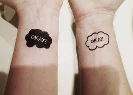 couples tattoos - Temporary tattoo - OKAY OKAY?