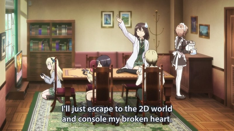 Room - 'll just escape to the 2D world and console my broken heart. sate