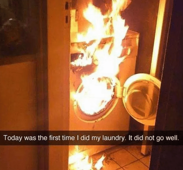 Heat - Today was the first time I did my laundry. It did not go well.