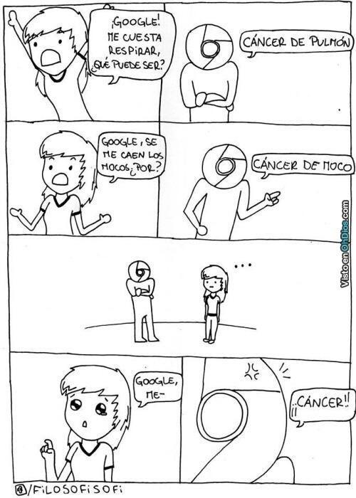 respuesta para todo en google es cancer