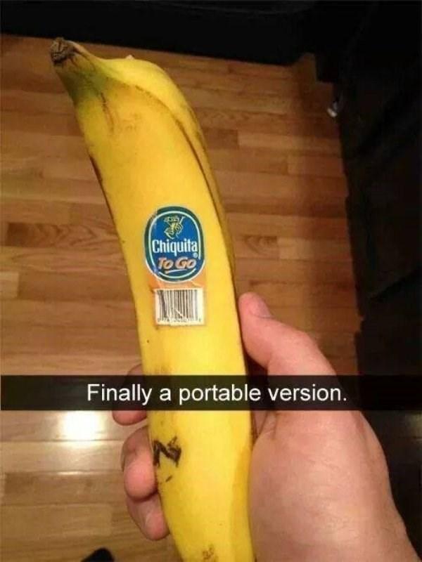 work meme - Banana family - Chiquita To Go Finally a portable version.