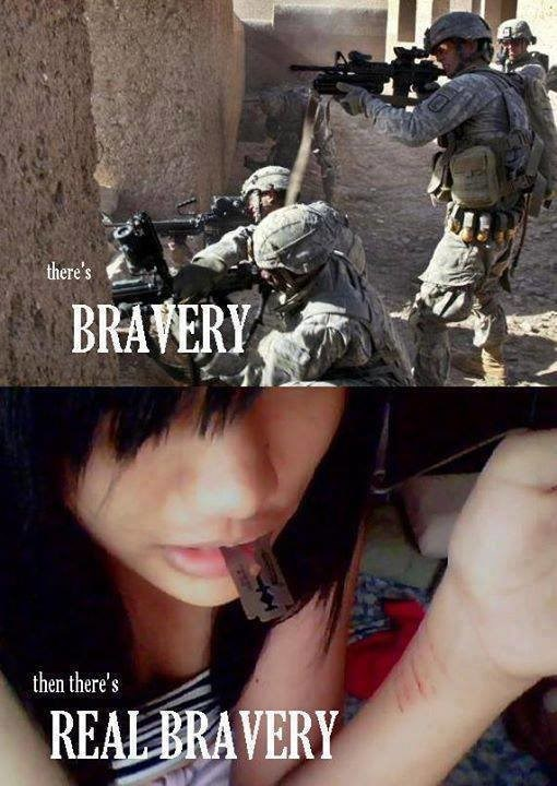 Soldier - there's BRAVERY then there's REAL BRAVERY