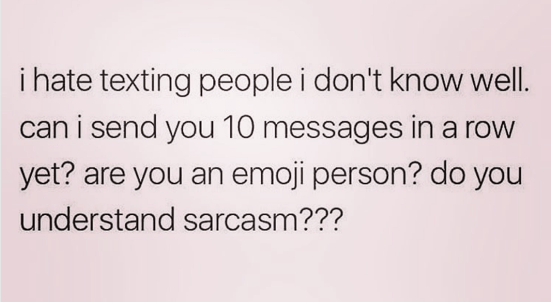 Funny meme about the perils of texting someone you don't know.