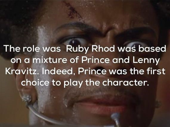Face - The role was Ruby Rhod was based on a mixture of Prince and Lenny Kravitz. Indeed, Prince was the first choice to play the character.