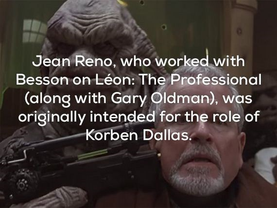 Photo caption - Jean Reno, who worked with Besson on Léon: The Professional (along with Gary Oldman), was originally intended for the role of Korben Dallas.