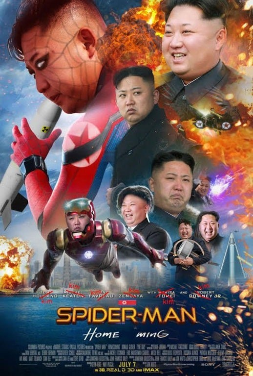 Dank Meme of Kim Jung Un as all the various characters of superheros.