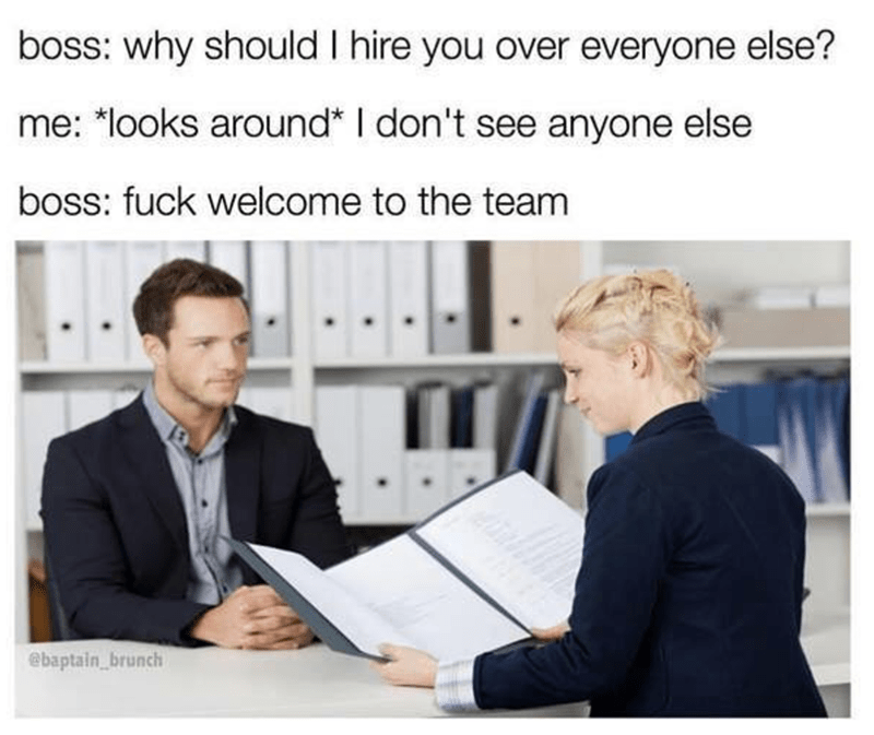 Funny interview meme