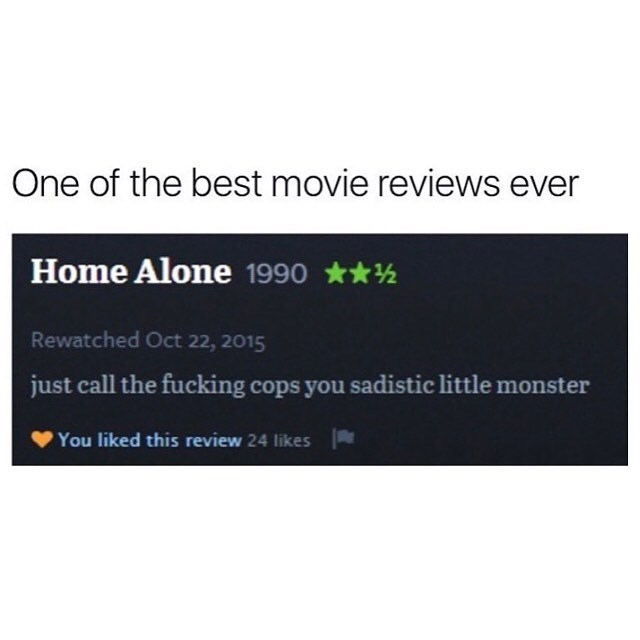 Funny meme about home alone
