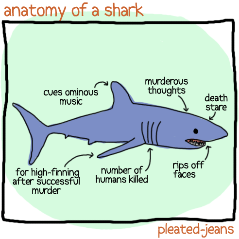 Fish - anatomy of a shark murderous thoughts cues ominous music death stare rips off faces number of for high-finning after successfuhumans killed murder pleated-jeans