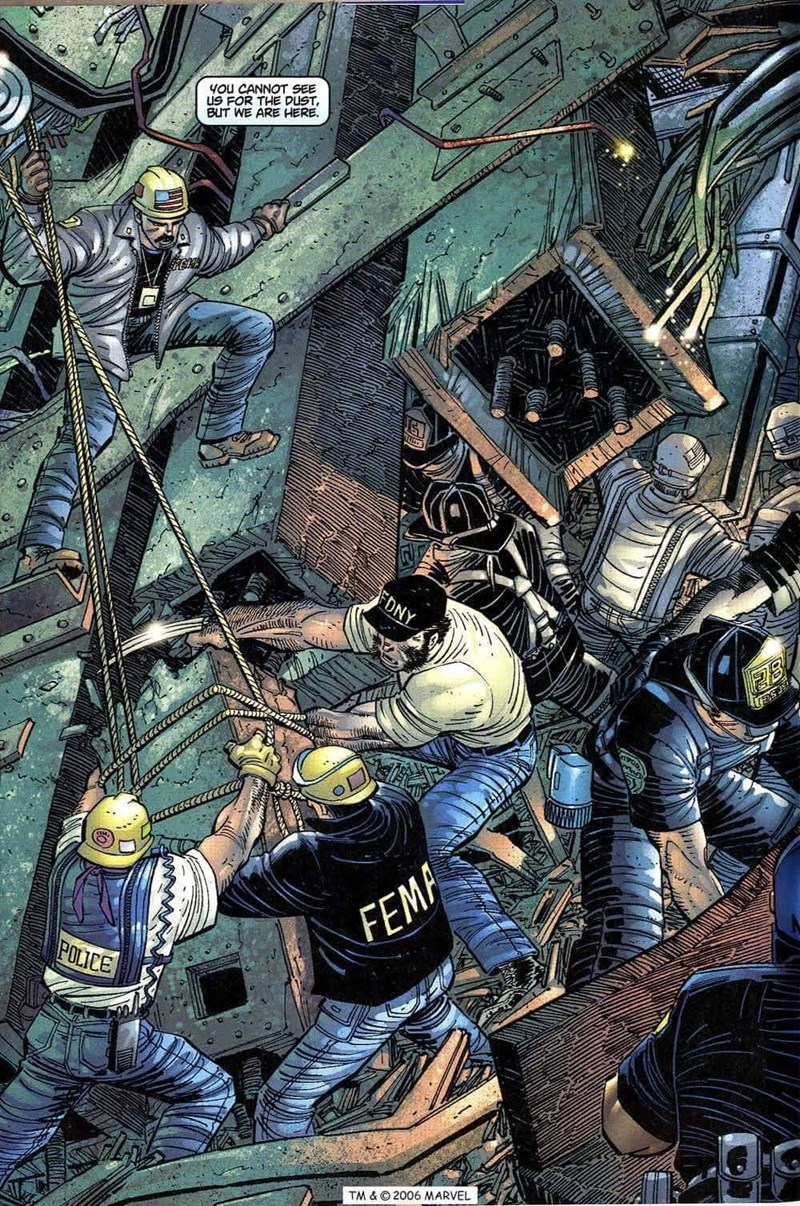 Fiction - YOu CANNOT SEE US FOR THE DUST BUT WE ARE HERE. FONY e FEMPA POLICE TM & 2006 MARVEL