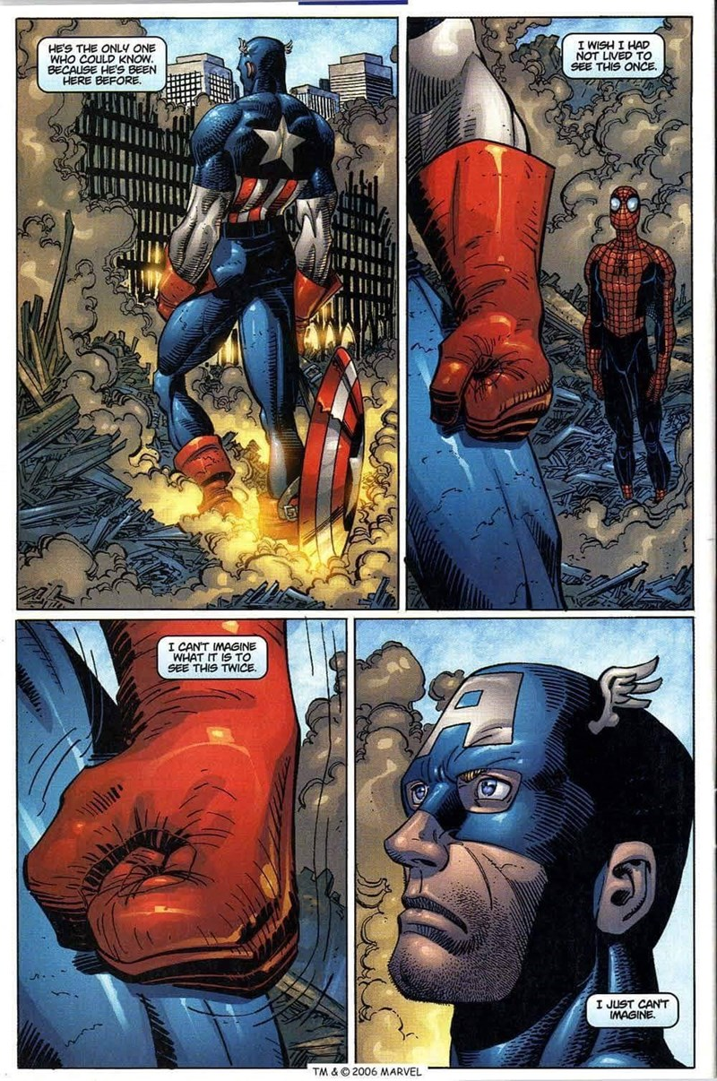 Comics - I WISH I HAD NOT LIVED TO SEE THIS ONCE. HE'S THE ONLY ONE WHO COULD KNOW. BE HERE BEFORE BEEN I CAN'T IMAGINE WHAT IT IS TO SEE THIS TWICE I JUST CANT IMAGINE TM & © 2006 MARVEL